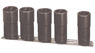 Five Piece 1/2-inch Drive Deep Twist Socket Set