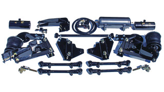 Stabilizing 4-Link Air Ride Suspension System