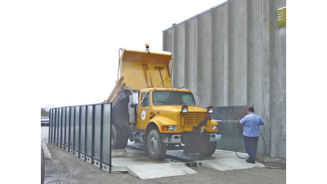 Cyclonator® corrosion control and salt truck washing system