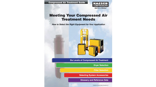 Compressed air treatment equipment guide