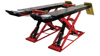 14,000-pound capacity scissor alignment lift