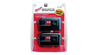 2-pack of 18-volt batteries