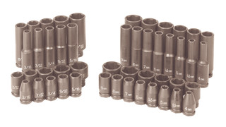 9748 1/4-drive Combination impact socket set