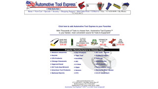 Automotive Tool Express website