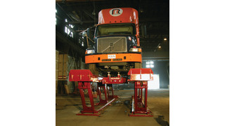 flush mounted parallelogram-shaped lifts