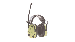 high-visibility AM/FM Radio earmuffs