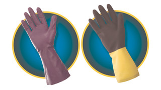 KleenGuard G80 Purple Nitrile Chemical-Resistant Gloves and Neoprene/Latex Chemical-Resistant Gloves