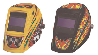 Motorsports and Fire Storm auto-darkening welding helmets