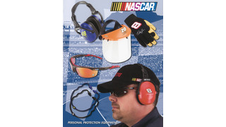 Nascar-themed personal protection equipment catalog