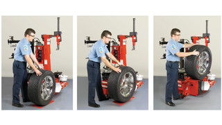 Optional Pneumatic Wheel Lift for the TC3500 and TC3250