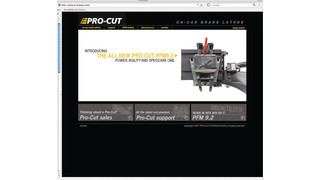 Pro-Cut website