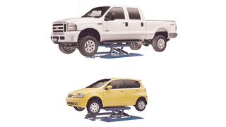 Redesigned VersaLift Low-Rise Vehicle Lifts