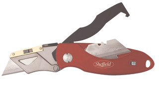Sheffield Heavy-Duty Lockback Utility Knife