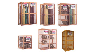 storage cabinets for compressed air/gas cylinders and tanks