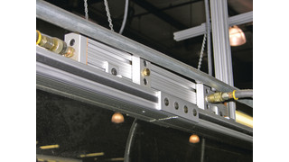 T-slotted aluminum frames