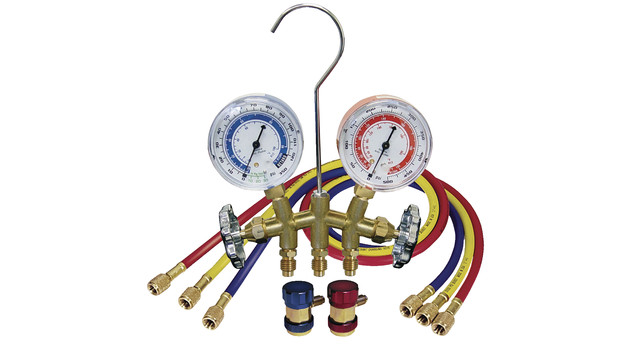 A/C manifold gauges