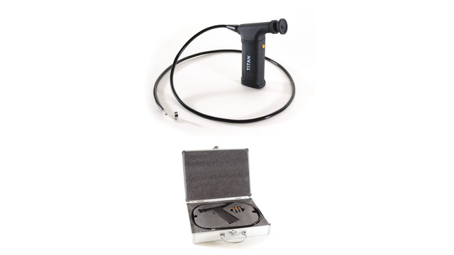 fiberoptic borescope with a flexible cable