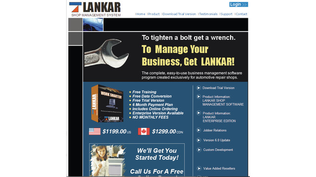 Lankar website