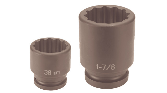Larger 12 -point impact sockets