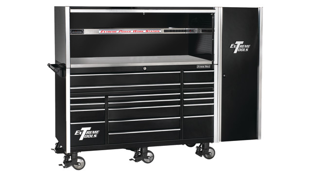 Professional Series Tool Storage Line and Power work station hutch