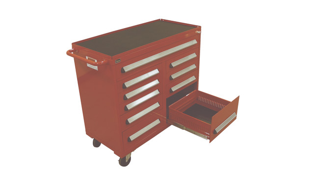 shallow-depth mobile tool cabinet