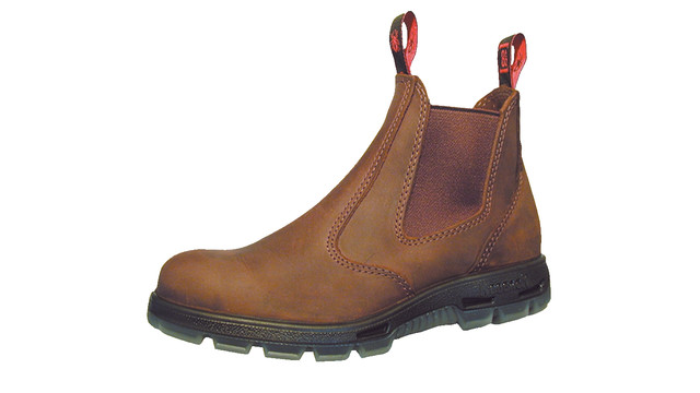 Steel Toe Slip-on Brown Boots