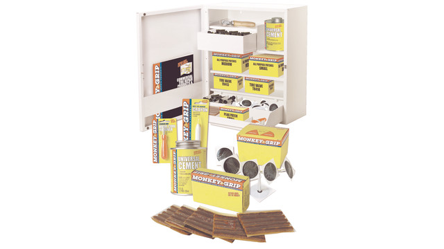 Storage Cabinet w/bulk packaging of Monkey Grip Products
