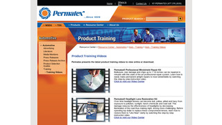 Updated Permatex website