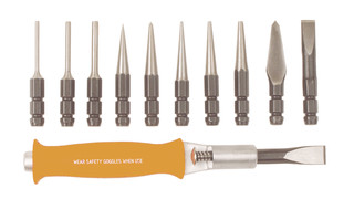 66308 Cats Paw 11-piece Snap Change Punch ' Chisel set