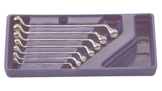 7-Piece Metric Box End Wrench Set, No. DE-707M