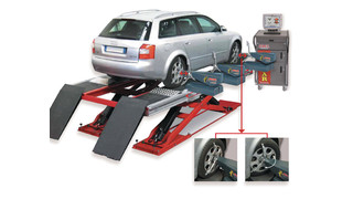 Clamp-less Robotic Wheel Alignment System