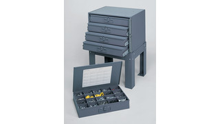 large compartment boxes and racks