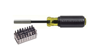 magnetic screwdriver with a 32-piece tamperproof bit set No. 32510