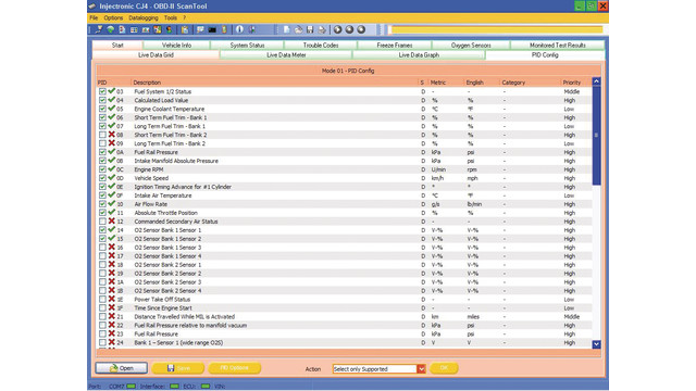 ScanMaster PC based diagnostic software