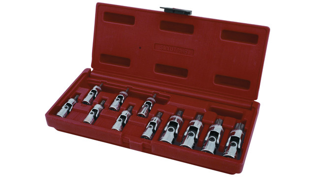 11-pc. Universal Tamperproof Star Bit Driver set, No. SMXUT11HB