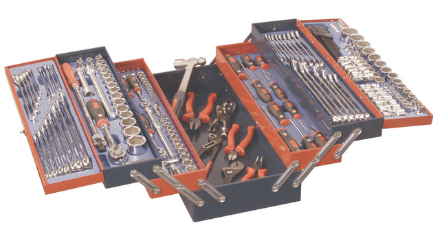 190-pc. Metric and SAE Mechanics tool set, No. MS-190TS
