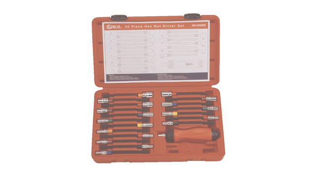 20-Piece Hex Nut Driver Set No. ND-020MS