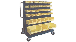 A-Frame truck for Hook-On plastic storage bins