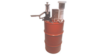 Aersolv aerosol-can puncturing and draining system