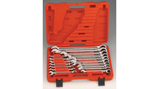 17-Pc. High Polish Combination Ratcheting Wrench Set No. GW-7617M and 15-pc. SAE Combination Ratcheting Wrench Set No. GW-7715S