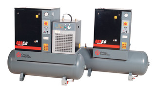 Quiet Rotary Screw (QRS) air compressors