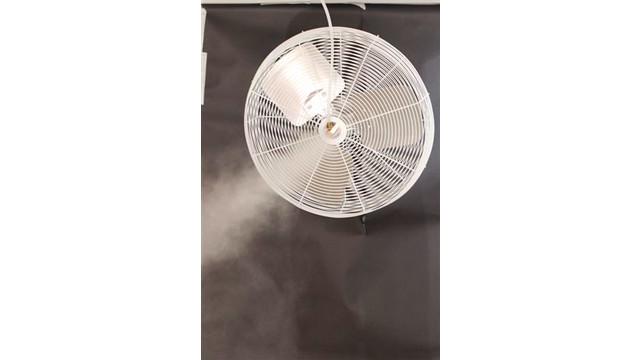 Mist cooling fan system