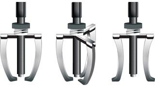 Reversible gear pullers