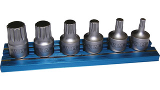 XZN Stubby Triple-Square 1/4 Drivers set, No. XZNS412