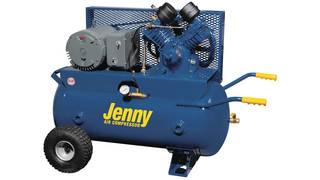 Wheeled-Portable Compressor with High-Volume, Two-Stage Electric Pump