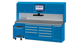 Automotive Stationary Storage and Workbench System