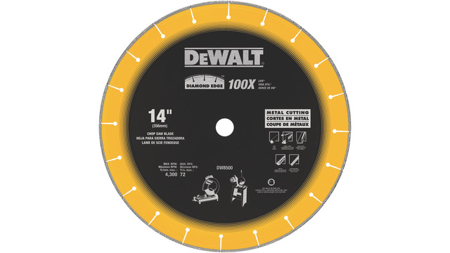 Diamond Edge Chop Saw Blade, No. DW8500