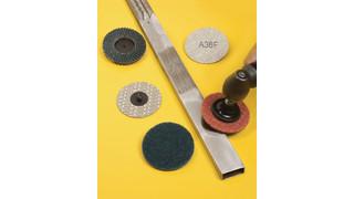Quick-change abrasive discs