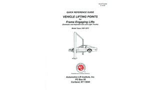 Vehicle Lifting Points, 2011 Edition